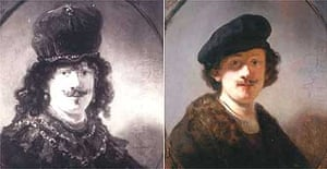 Rembrandt before and after