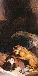 Edwin Landseer's Attachment (1829). Picture courtesy of Wordsworth Trust