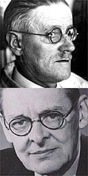 James Joyce and TS Eliot