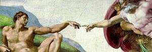 Michelangelo, sistine chapel creation (detail)