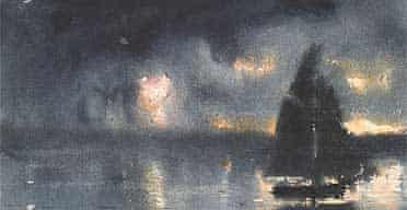 Winslow Homer Sailboat and 4th July fireworks