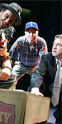 Kenneth Branagh (right) in Edmond, National Theatre
