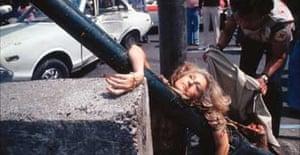 Enrique Metinides: Adela Legeratta Rivas, struck by a Datsun, 1979
