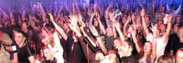Clubbers at a Ministry of Sound dance party