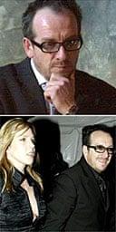 Elvis Costello, with girlfriend Diana Krall