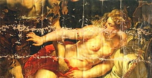 Detail from Rubens's Tarquin and Lucretia