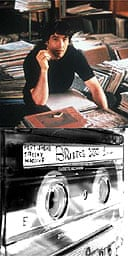 John Cusack in High Fidelity and an audio cassette