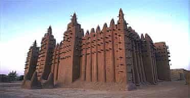 The mud mosque in Djenne, Mali