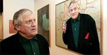 Manipulated image of David Hockney