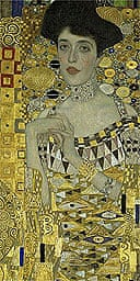 Detail from Klimt's 1907 portrait of Adele Bloch-Bauer