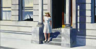 Detail from Summertime by Edward Hopper