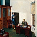 Detail from Office at Night, by Edward Hopper, 1940
