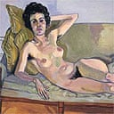 Lucille Rhodes, 1976, by Alice Neel