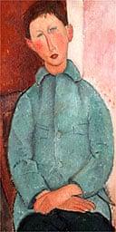 Garcon a la Veste Bleu by Modigliani