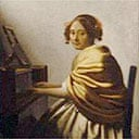 Young Woman seated at the Virginal by Vermeer