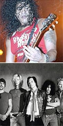 Slash performing and with Velvet Revolver