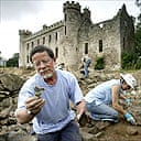 Archaeological dig at Fetternear, Aberdeenshire