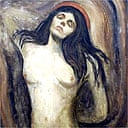 Detail from The Madonna by Edvard Munch