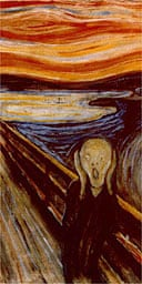 Detail from Edvard Munch's The Scream