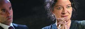 Clare Higgins as Hecuba, Donmar Warehouse, Sept 04
