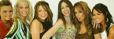 Caroline Sullivan (third from right) with Girls Aloud. Photo: Sean Smith