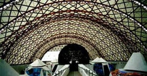 Japanese pavilion at the 2000 Hanover Expo, designed by Frei Otto
