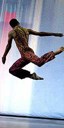 Dancer in Merce Cunningham's Split Sides, Oct 04