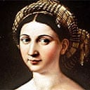 Detail from La Fornarina, 1516, by Raphael