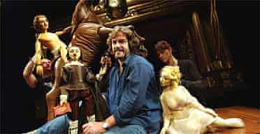 Gregory Doran with the puppets from the RSC's Venus and Adonis