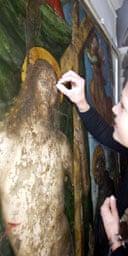 Restoration of unknown Raphael at Gubbio