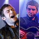 Damon Albarn and Noel Gallagher