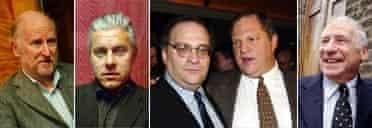 Rocco Landesman, David Ian, Bob and Harvey Weinstein, Mel Brooke