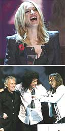 Madonna, Queen, the Darkness; UK Hall of Fame Nov 04