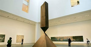 The revamped Moma, with Barnett Newman's Broken Obelisk in the foreground