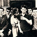The original lineup of the Pogues