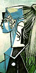 Portrait of Sylvette David in a Green Armchair, 1954, by Picasso
