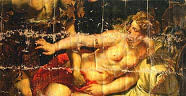 The damaged Tarquin and Lucretia by Rubens
