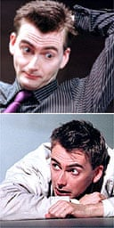 David Tennant in Push Up at the Royal Court in 2002 and in Romeo and Juliet at RSC, 2000