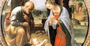 Adoration of the Christ Child by Leonardo da Vinci