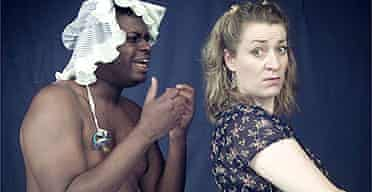 Wills Morgan and Lucy Stevens in Jerry Springer and Diaper Man at the Battersea Arts Centre
