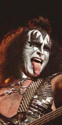 Gene Simmons, base player for Kiss