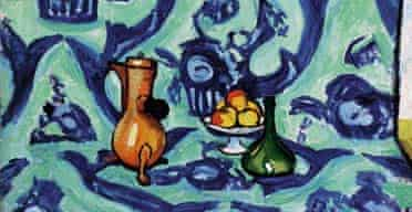 Still Life with Blue Tablecloth, by Henri Matisse