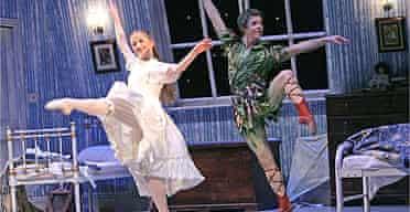 Christian Broomhill and Pippa Moore in Peter Pan at Sadler's Wells April 2005