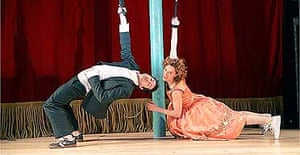 Tristan Sturrock (Tristan) and Eva Magyar (Yseult) in Tristan and Yseult, Cottesloe, April 2005