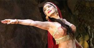 Sophiya Haque as Janoo Rani in The Far Pavilions, Shaftesbury Theatre, London