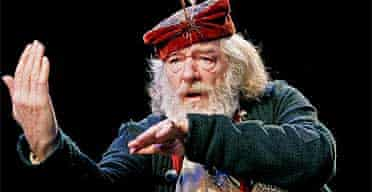 Michael Gambon as Falstaff in Henry IV parts I&II, National theatre, May 05