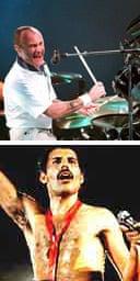 Phil Collins and Freddie Mercury