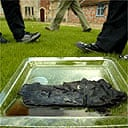 The 2,000-year-old shoe found at Whiteball quarry, near Wellington, Somerset