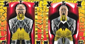 Gilbert and George, magazine sculpture Ginkgo