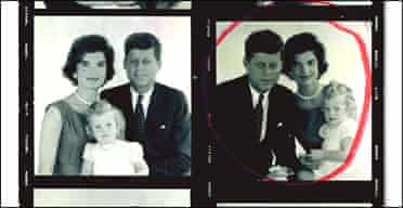 John F Kennedy with his wife and daughter by Jacques Lowe, 1960